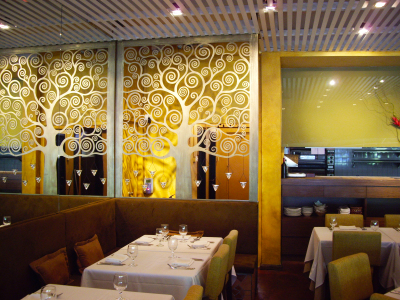 DECORATIVE TREE PANEL FOR RESTAURANT