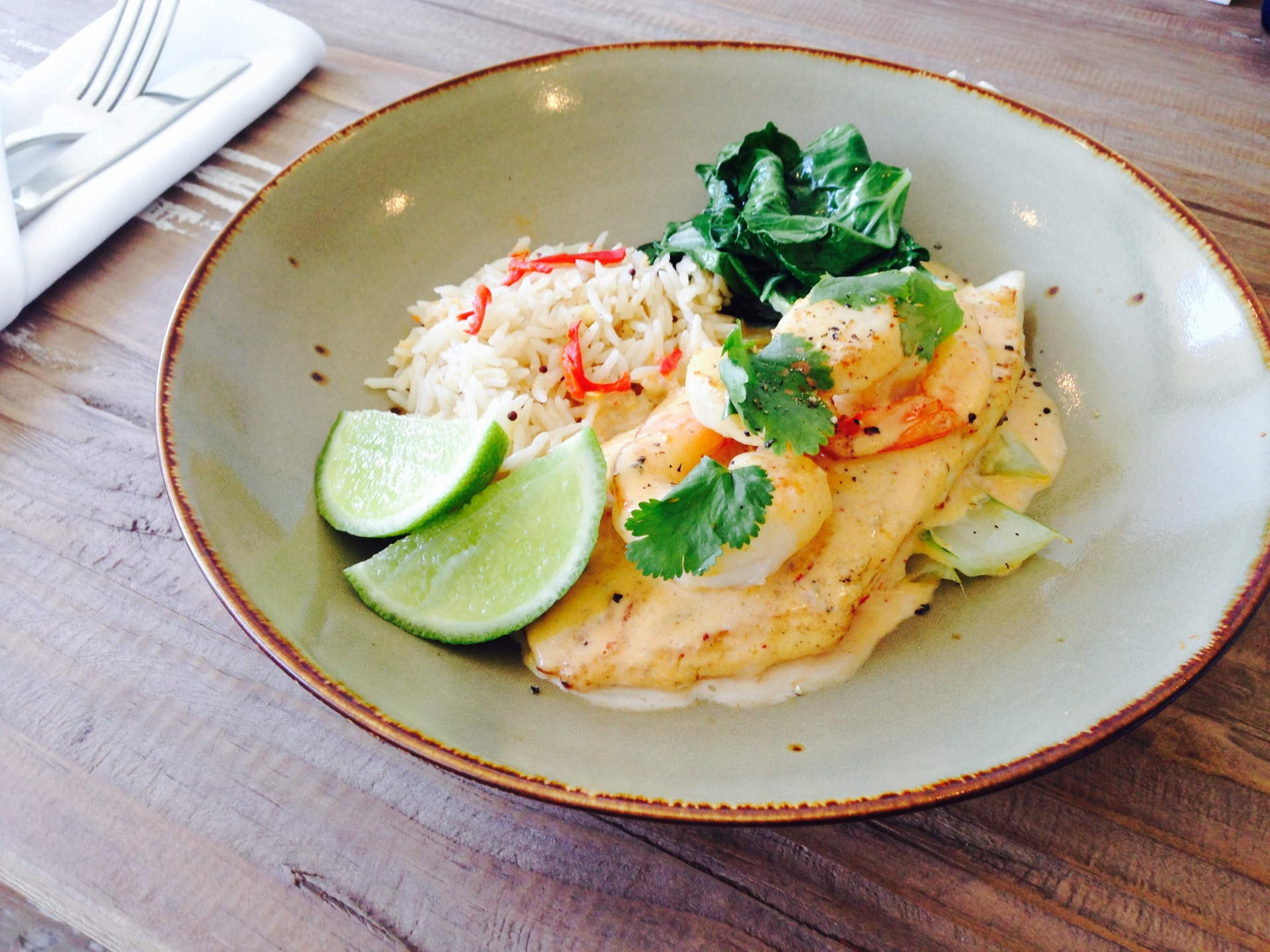 Lime & Coconut Perch with Mooloolaba Prawns