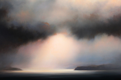 Sky symphony, oil on linen by Mehrdad Tahan