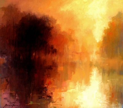 Reflection, oil on canvas by Mehrdad Tahan