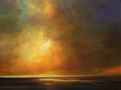 Sunrise, oil on canvas by Mehrdad Tahan