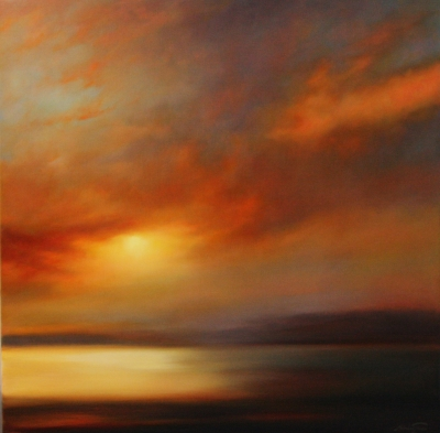 Morning Glow,Oils on linen,Mehrdad tahan