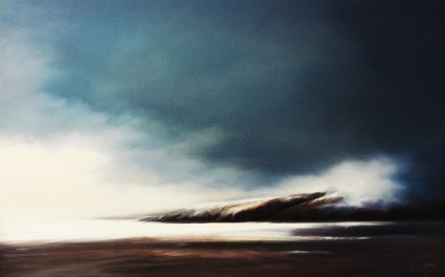 Moody blues, oil on linen by Mehrdad Tahan