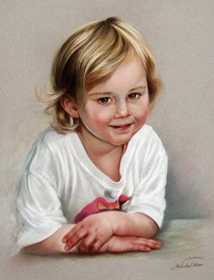 Pastel portrait by Mehrdad Tahan