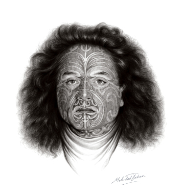 Moko , Charcoal portrait by Mehrdad Tahan