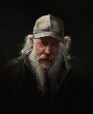 Oil portrait by Mehrdad Tahan