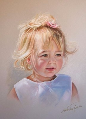 Pastel portrait commission