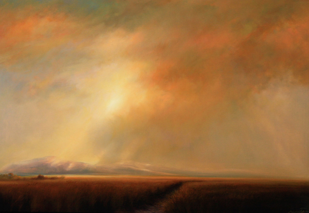 sky symphony, oil on linen,Mehrdad Tahan