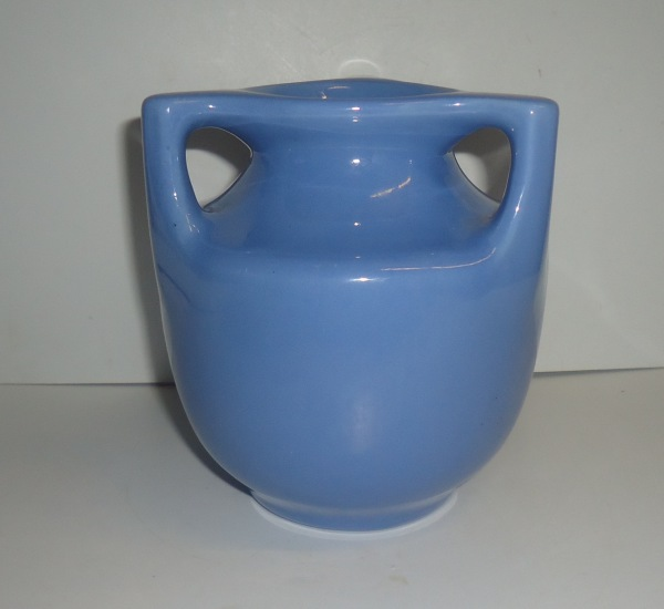 Blue 3 Handle Pottery Vase