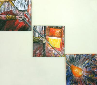 Glassblower Triptych
