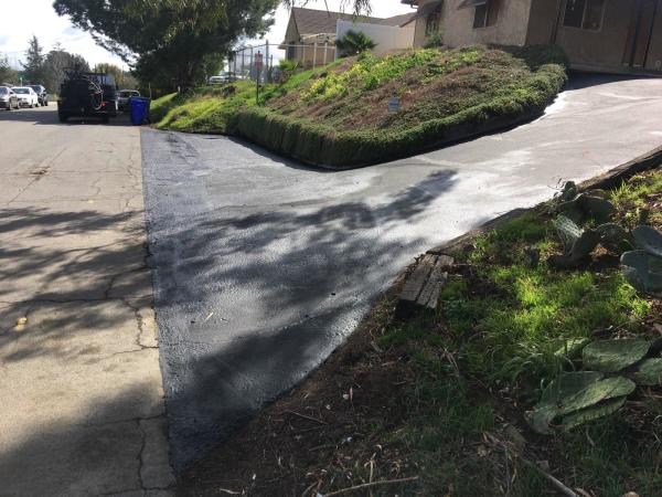 """Sloped driveway """"after"""""""