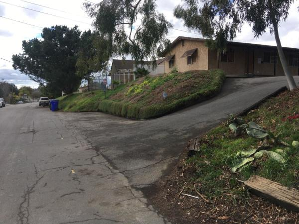 """Sloped driveway """"before"""""""