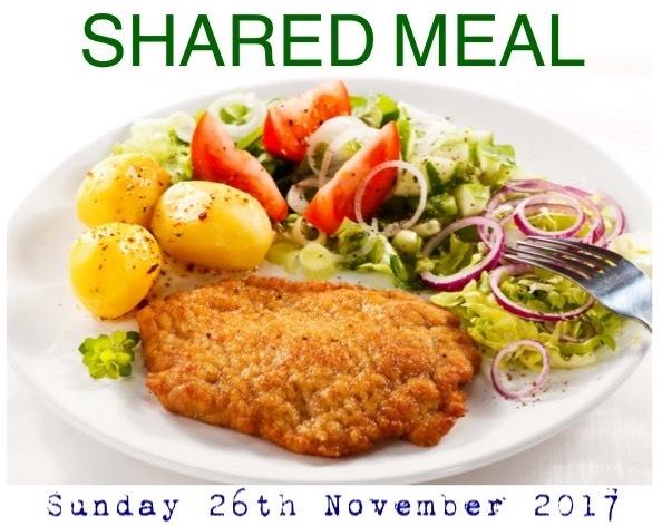 Sunday 26th November 2017 - Shared Meal