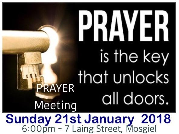 Sunday 21st January 2018 - Prayer 6:00pm