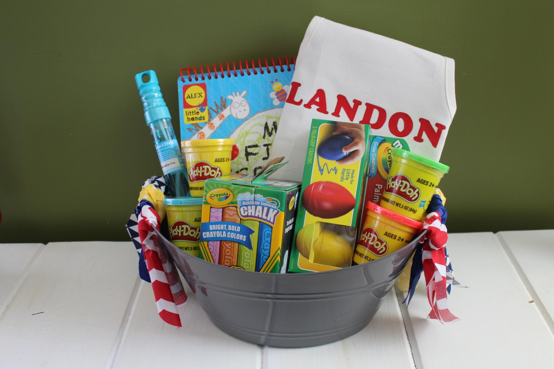Toddler Arts and Crafts Gift Basket