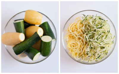 Zucchini and Squash Noodles with Red Wine Sauce