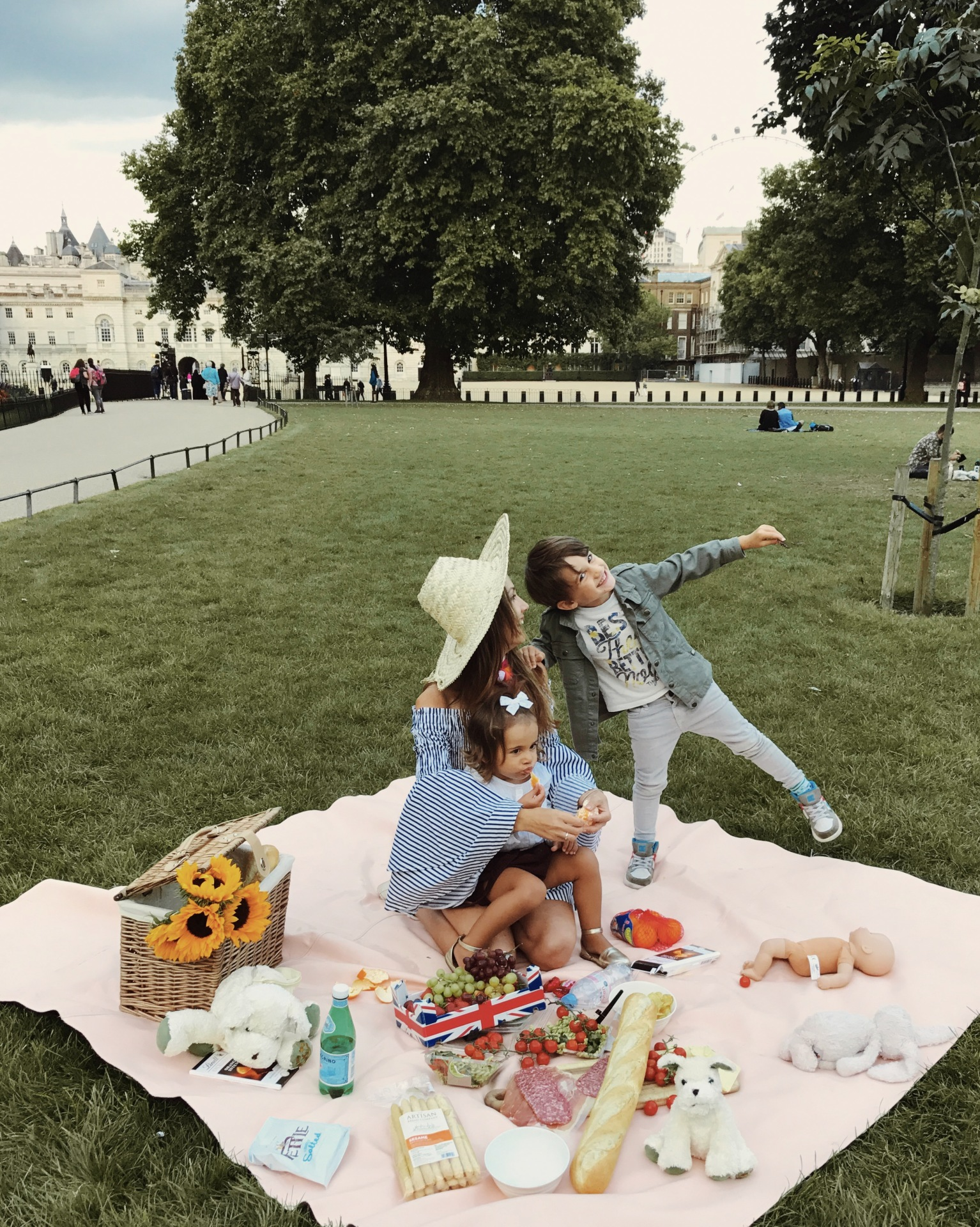 Picnic in St.James's Park with family