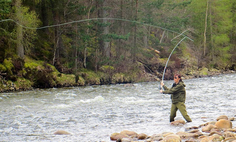 Salmon fishing on River Dee