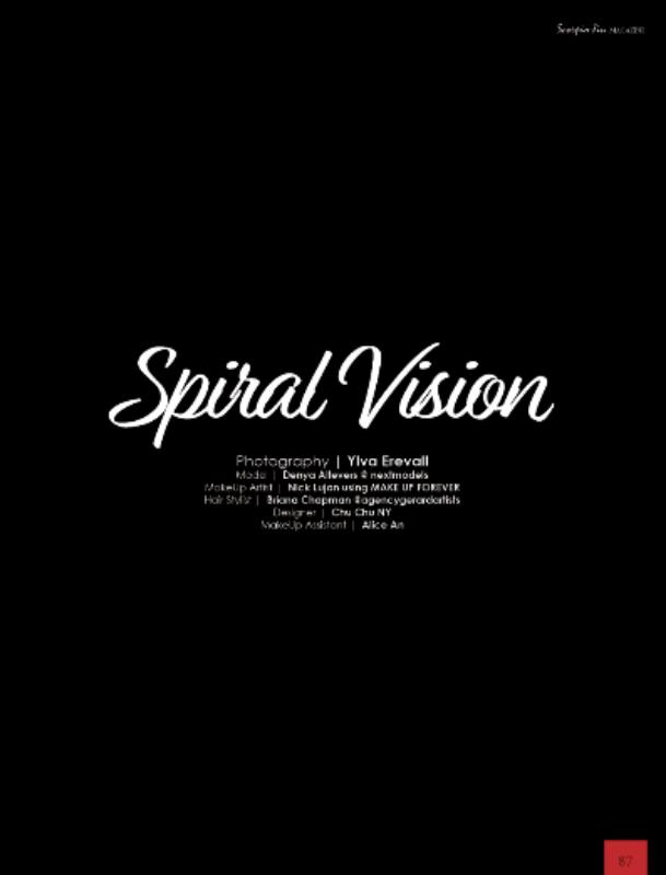 """""""Spiral Vision"""" for Scorpio Jin Magazine"""