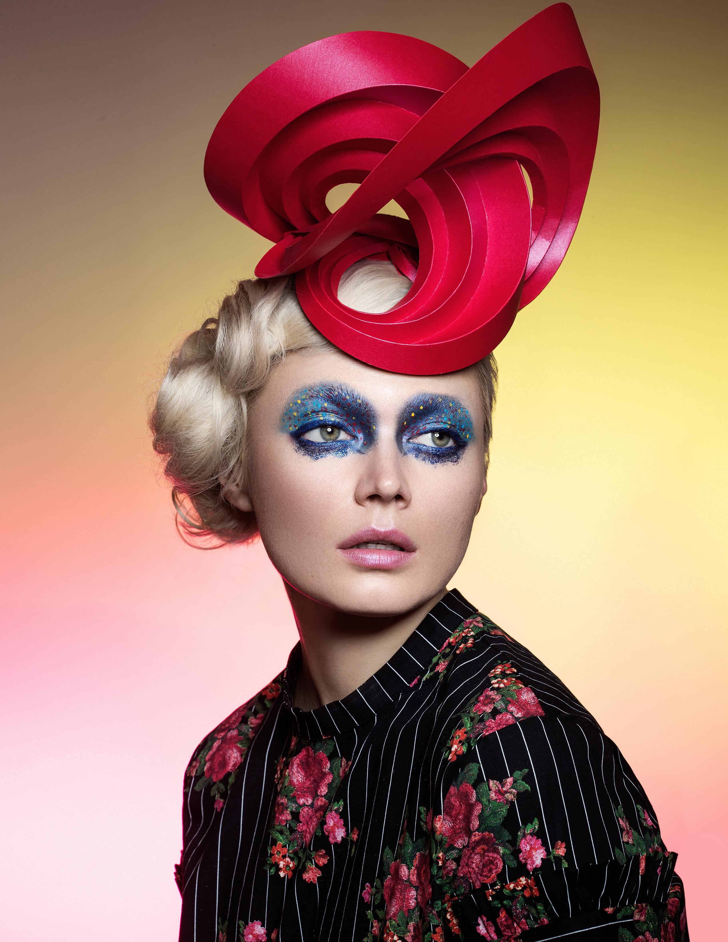 hotographer Ylva Erevall Model Khrystane paperheadpiece chuchuny Hair Koji Ichlkawa Makeup deeptisadhwani