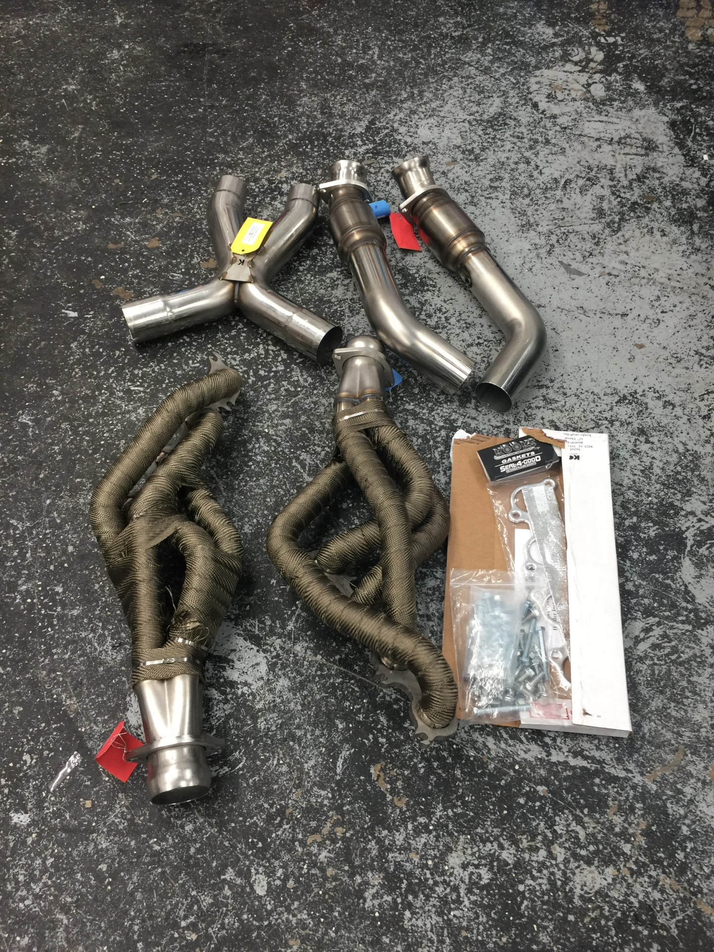 Kooks LongTube headers for a 5.0 mustang.