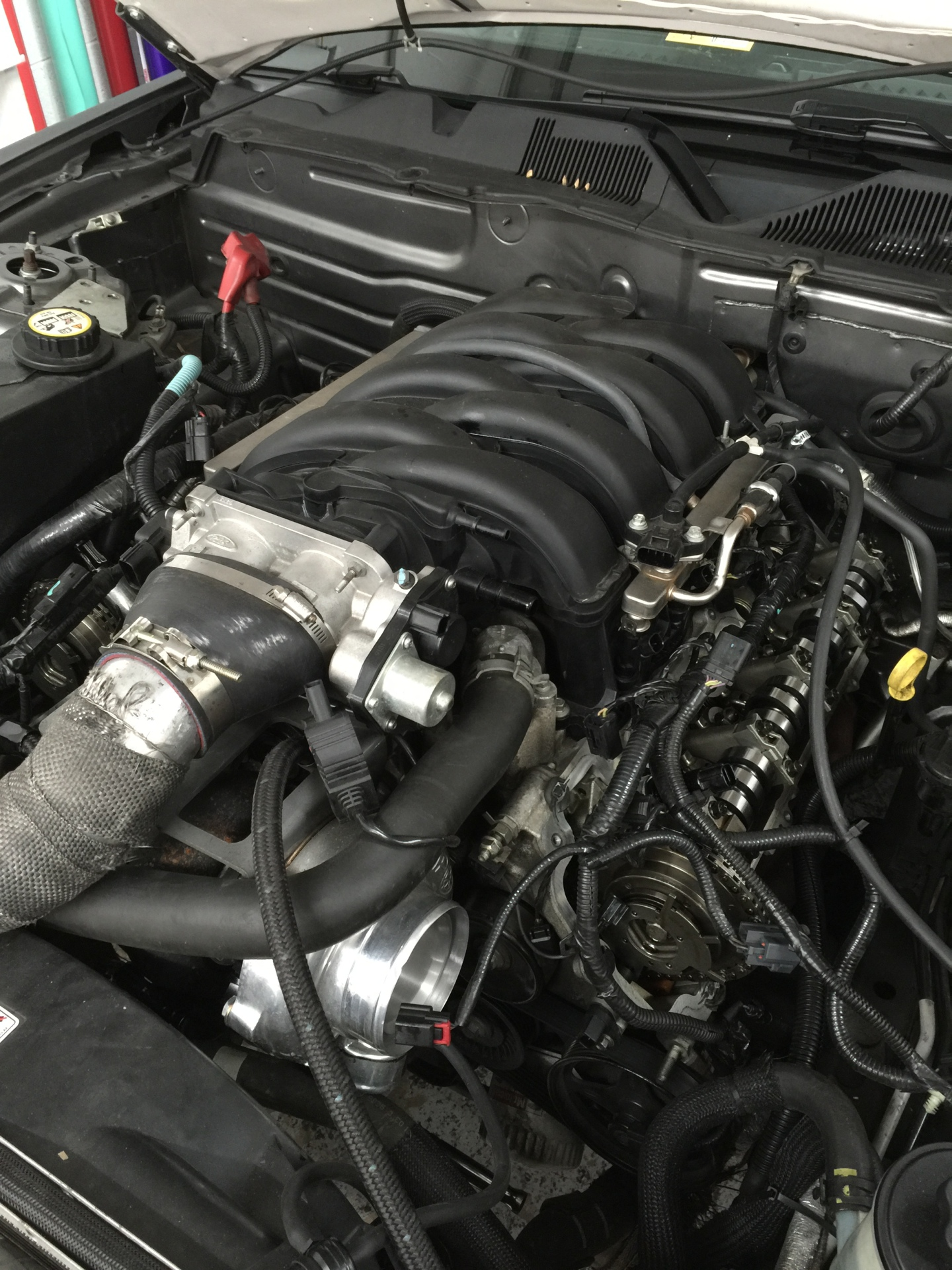 Hot Rod cam install on Comp Oil-less turbo kit 4.6 mustang.