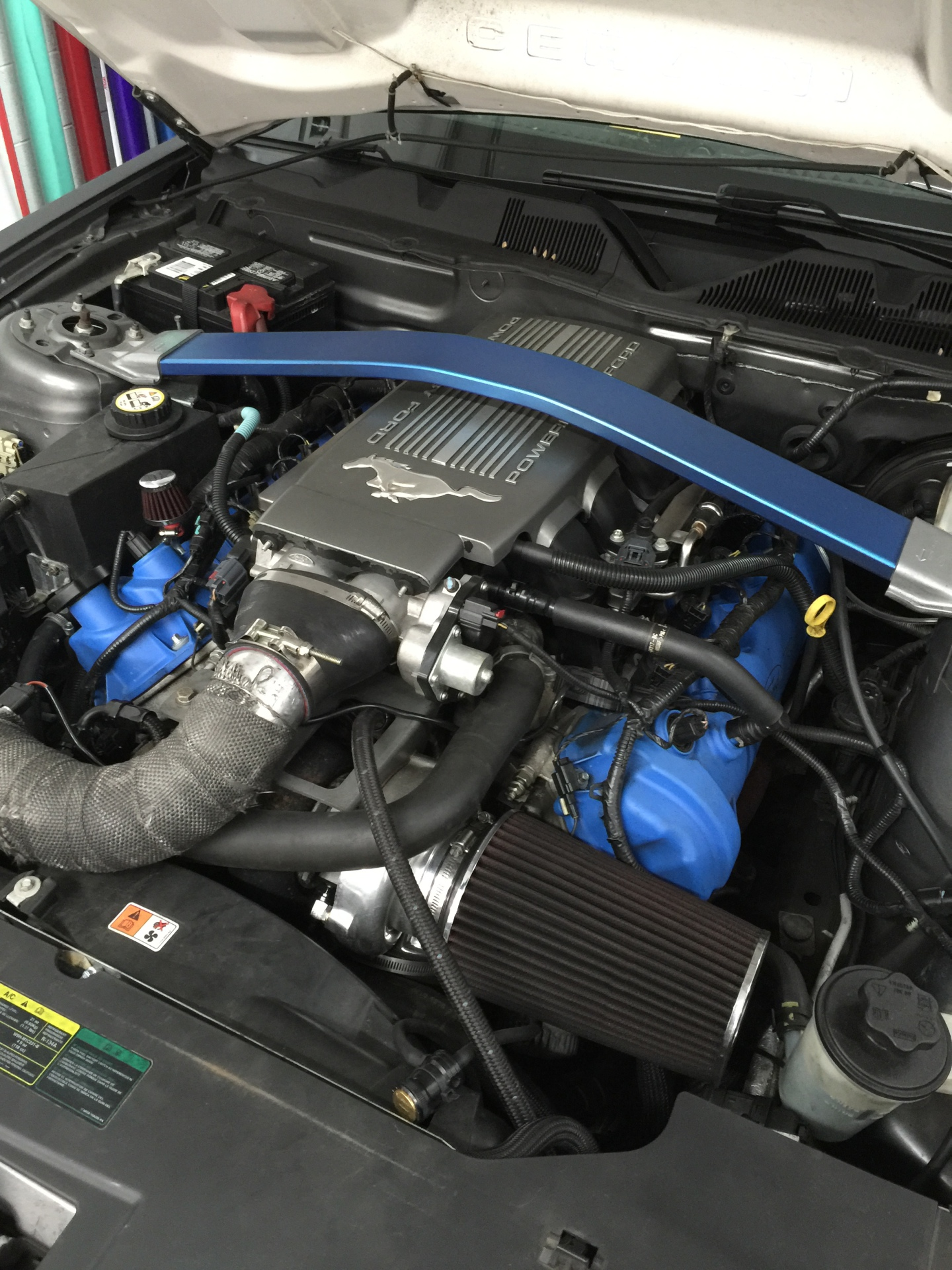 Comp Oil-less turbo kit installed on 4.6 mustang.