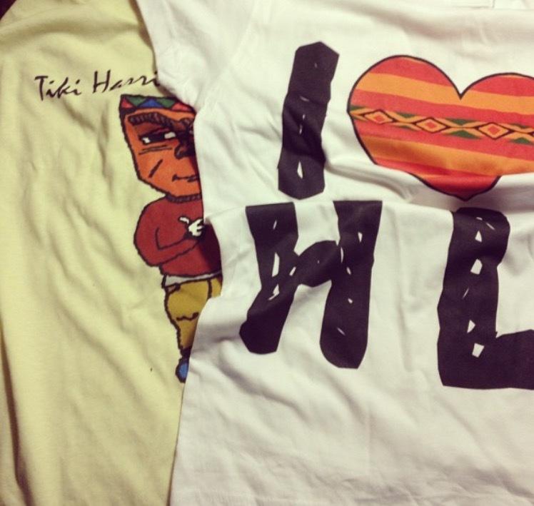 Classic Tiki Harris Tee and I Love HL Tee
