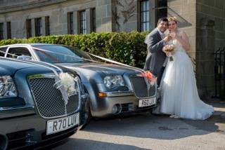 Confetti wedding cars