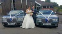 Confetti wedding cars