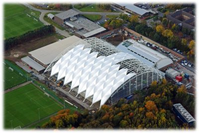 Physics-defying goal inspires new stadium