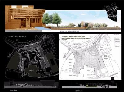 City Hall, Proposed & Demo Plan