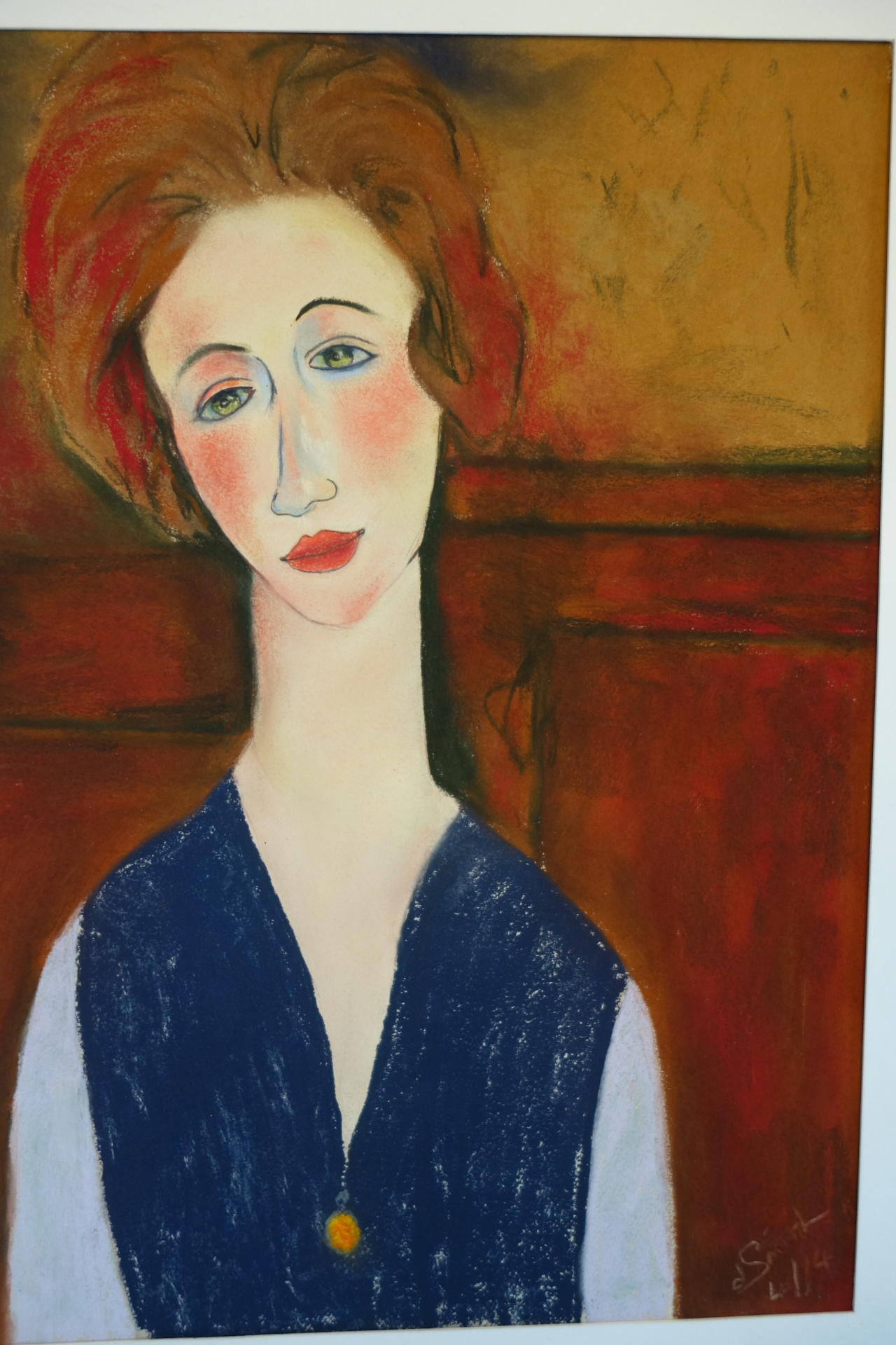 "After Modigliani ""Jean""  pastel 40x56 cms"
