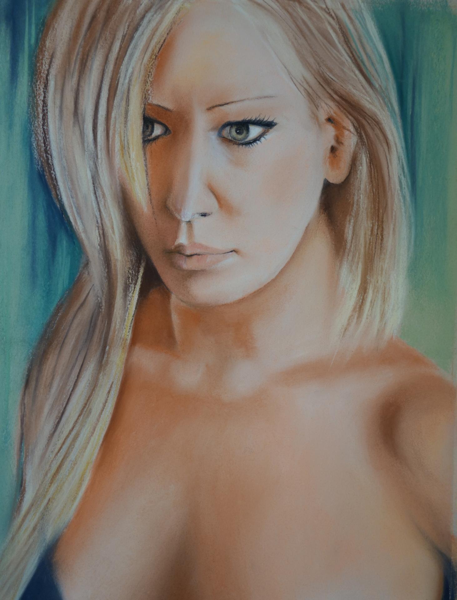"""Green eyes""  pastel 36x47 cms"