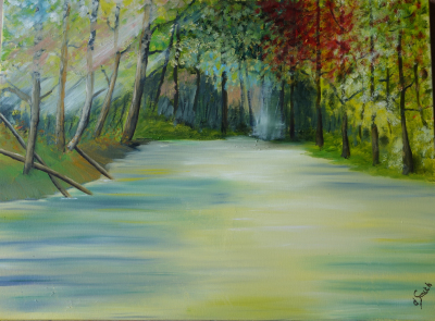 """The swamp"" oil on canvas 54x72 cms"
