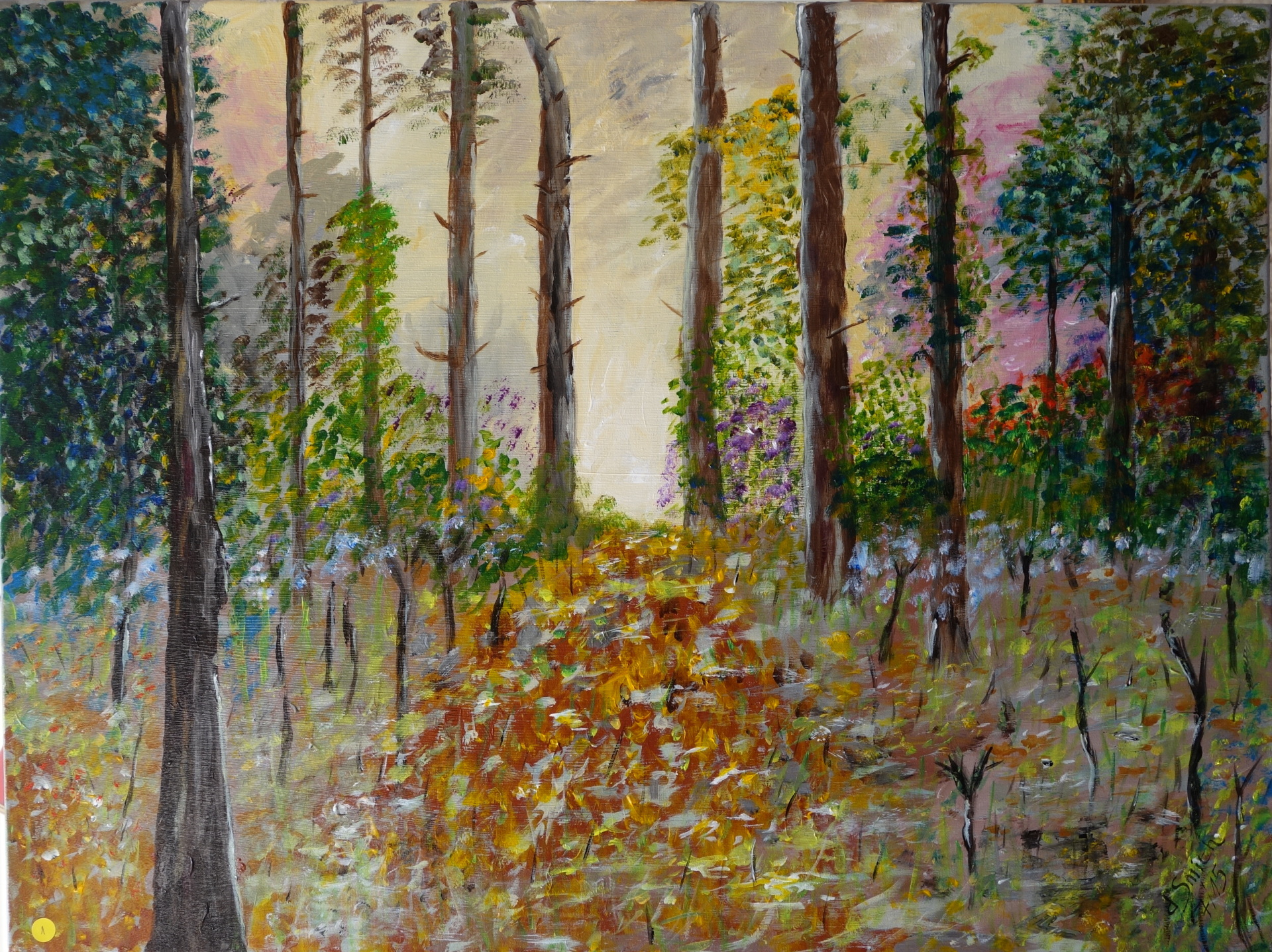 """The forest""  oil on canvas"