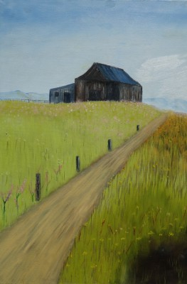 """The old barn""  oil on canvas  50x70"