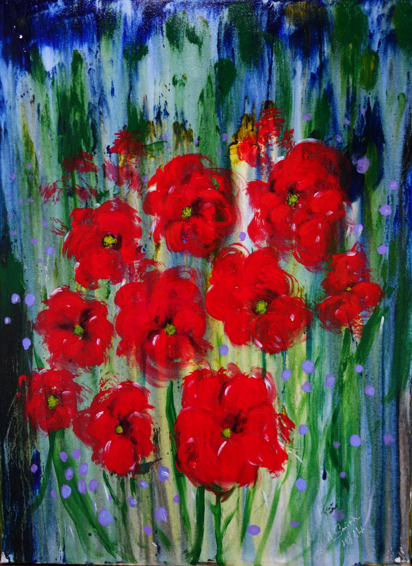 """Poppies"" oil on canvas"