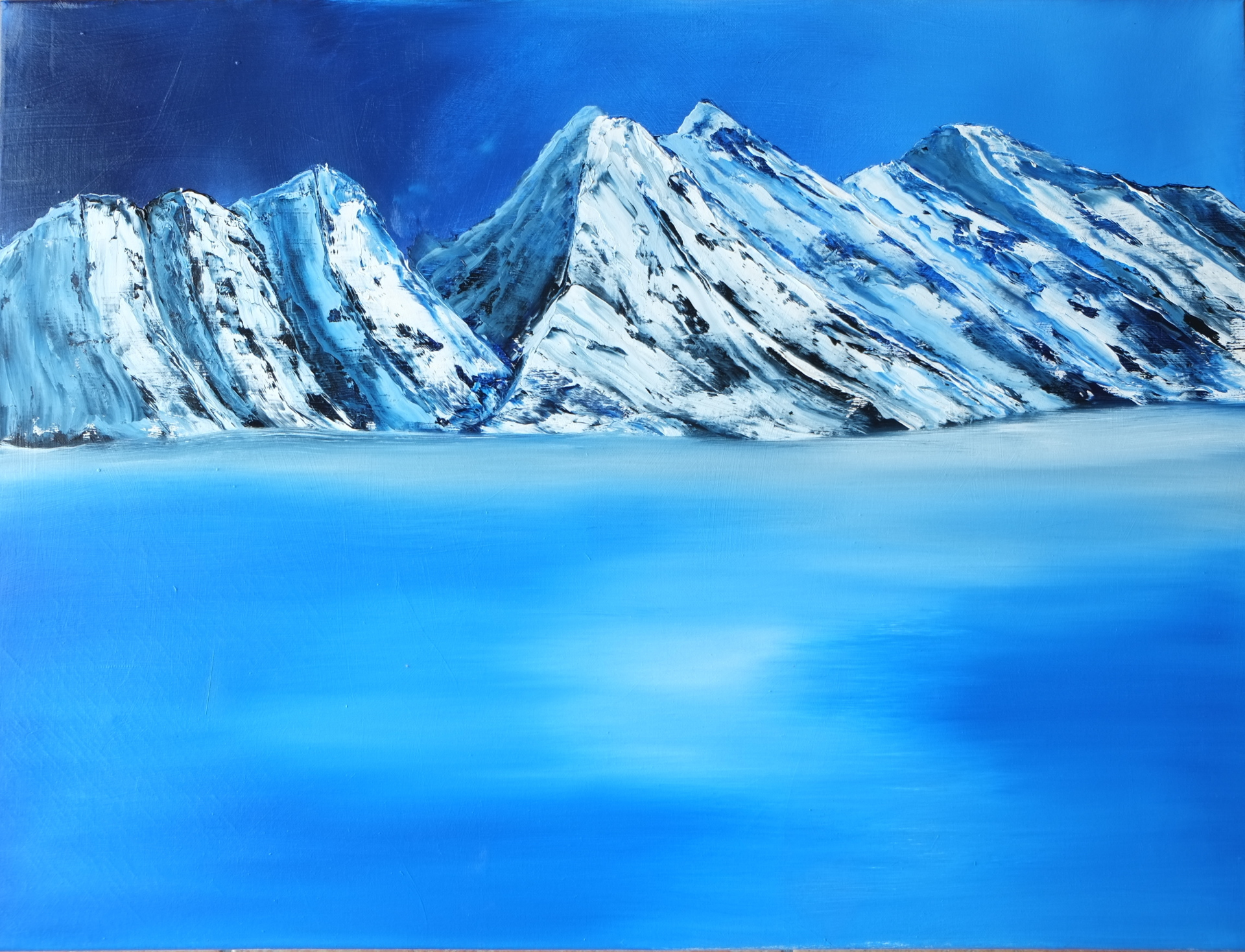 Antartica  oi  on canvas 60x80cms