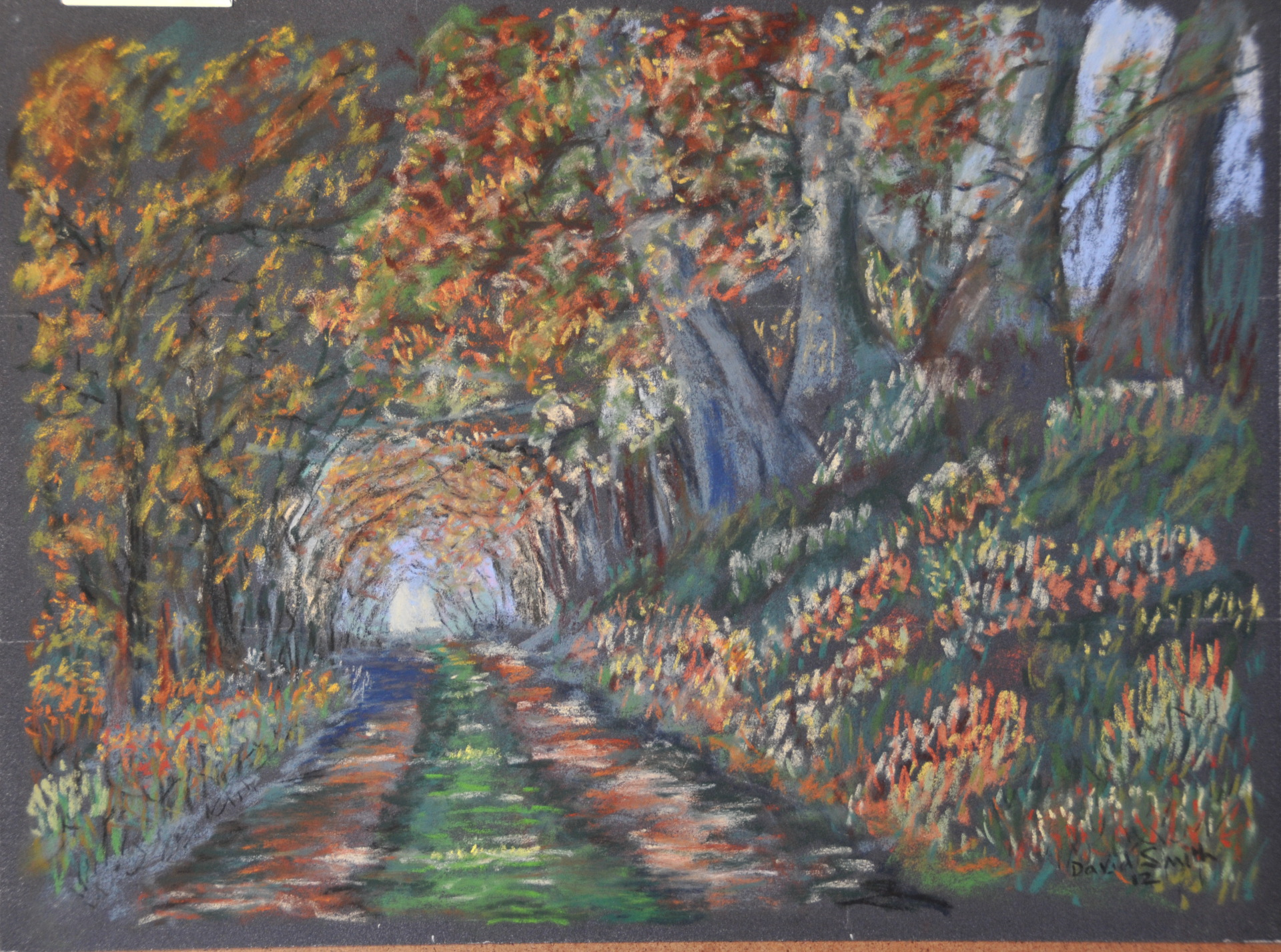 A way through the forest  pastel