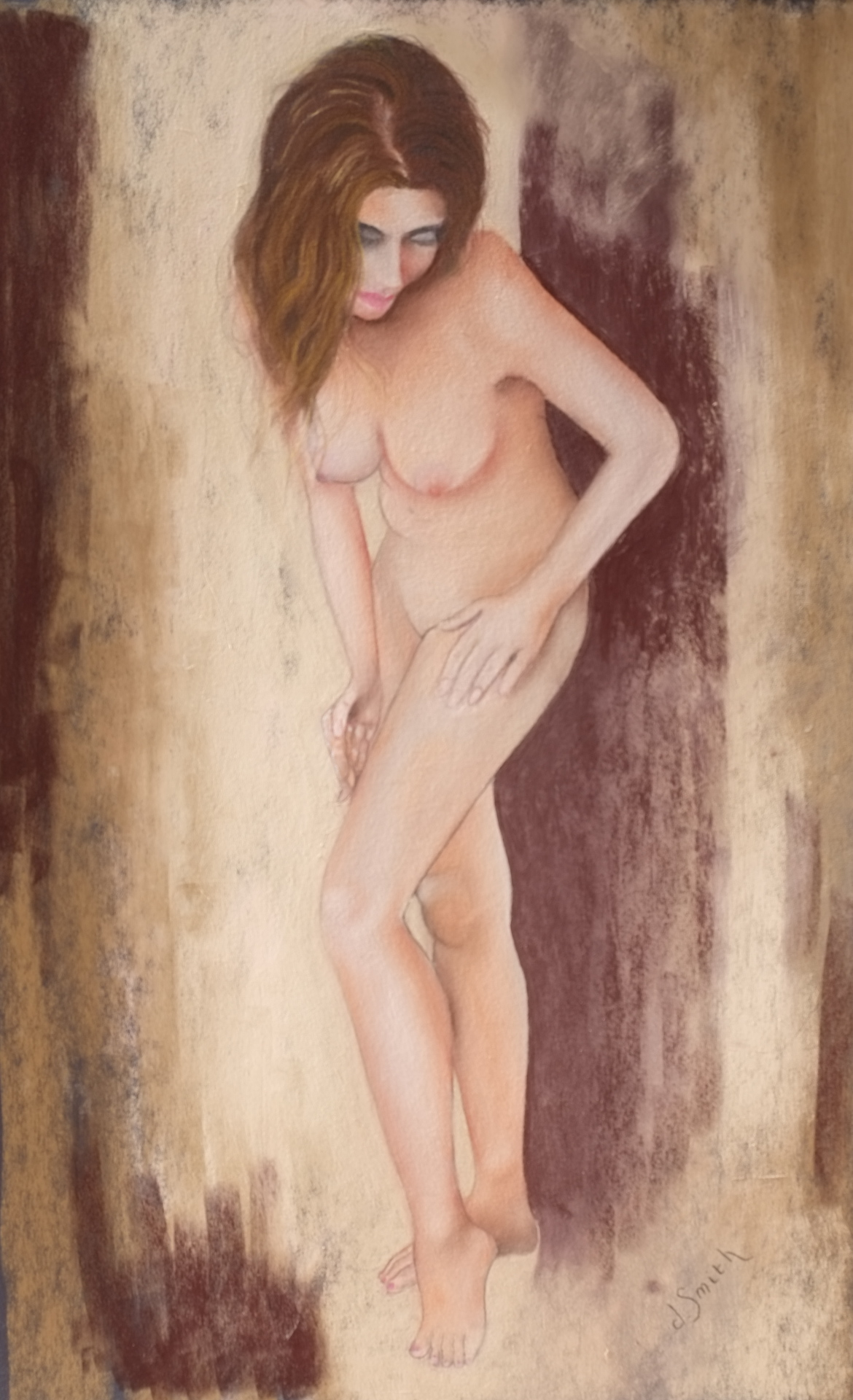 Morning Beauty 46x76cms pastel