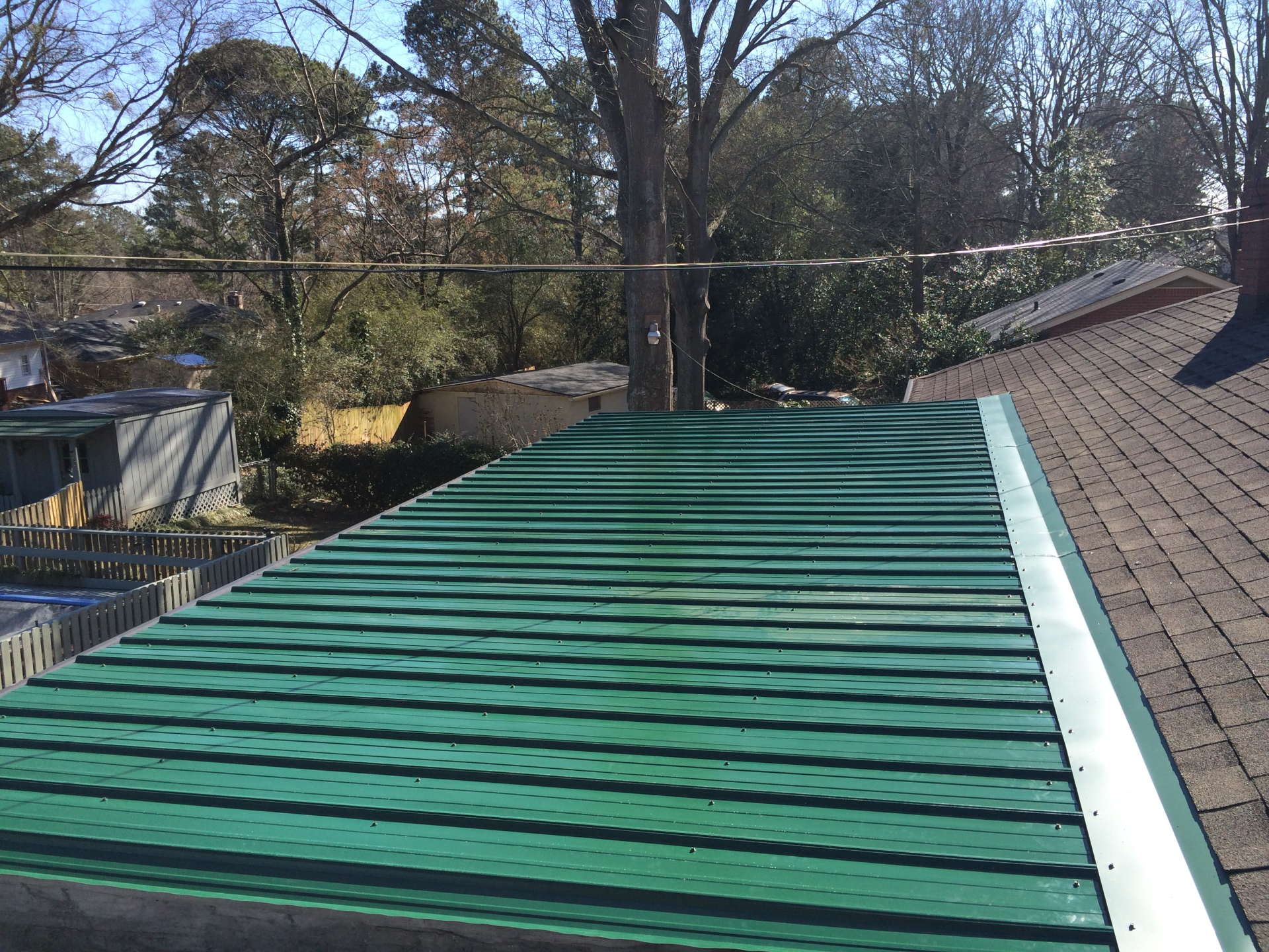 Residential Metal Roof Installation