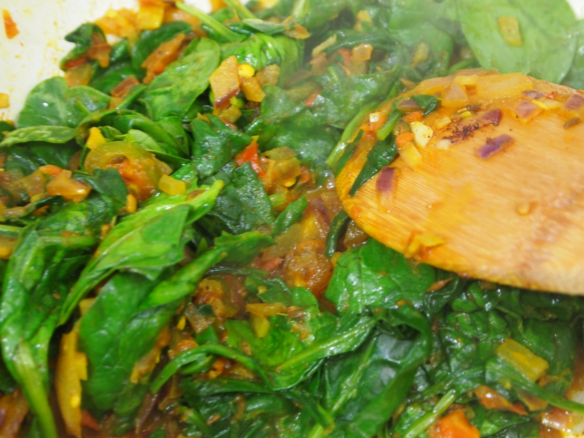 My India Inspired Spinach Curry