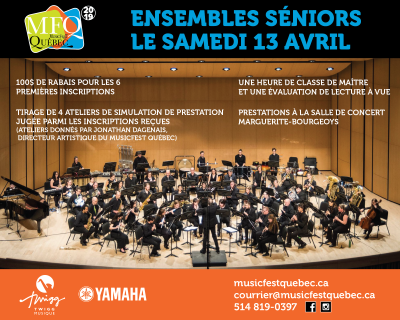 Ensembles séniors le 13 avril