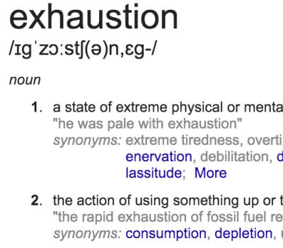 Week 5 - Exhaustion