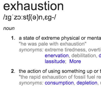 Week 5 - Exhaustion