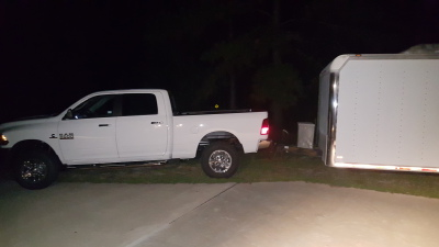 Truck hooked-up the night before
