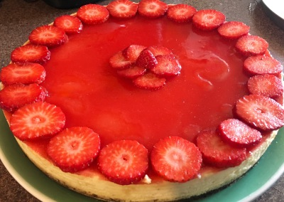 Perfect strawberry cheesecake!