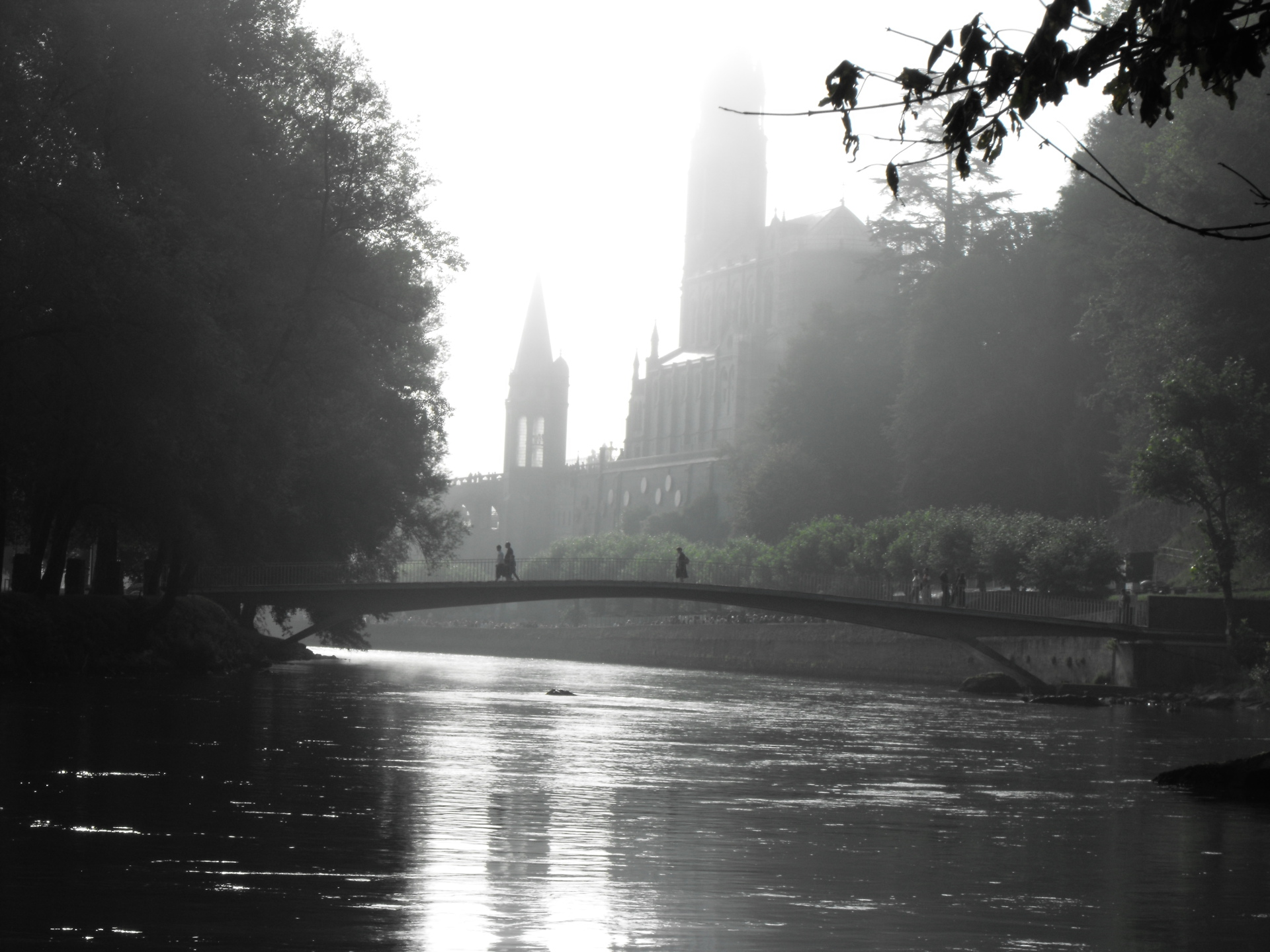 Cathedral in the Mist -Lourdes