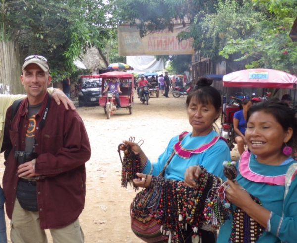 Shipibo Women Selling Their Crafts in Ucayali